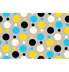 Geometric seamless pattern background grungy polka vector