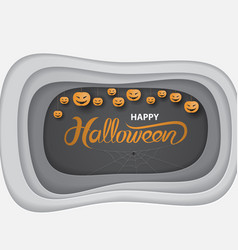 halloween calligraphy abstract background vector image