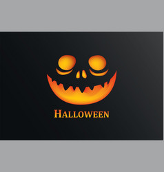 Halloween party invitation with pumpkin in dark vector