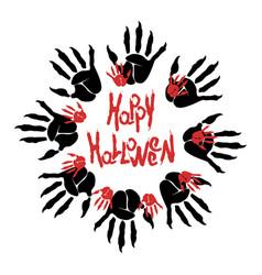 Halloween zombie logo vector