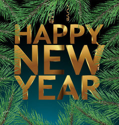 Happy new year - banner vector image vector image