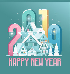 Happy new year winter card vector