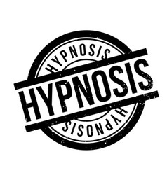 hypnosis rubber stamp vector image