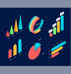 infographic isometric elements vector image
