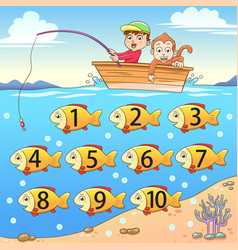 Learn counting number with fishing vector