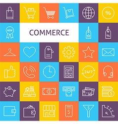 Line Art Commerce Icons Set vector image