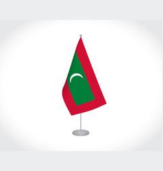 Maldives flag on white background vector