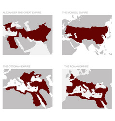 Map of the ancient empires vector