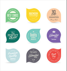 modern badges and labels collection 7 vector image