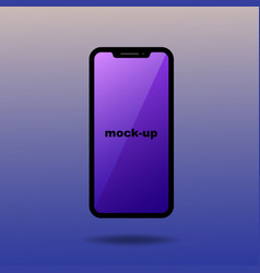 modern black smartphone mock-up user interface vector image