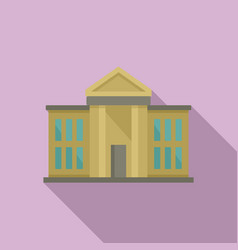 National parliament icon flat style vector