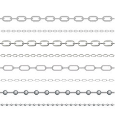 naturalistic 3d set chain silver and steel vector image