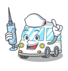 Nurse ambulance character cartoon style vector