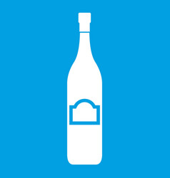 One bottle icon white vector