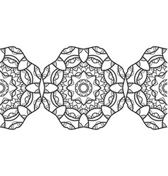 ornate decorative snowflake on a white background vector image