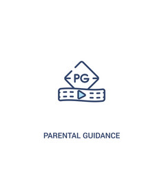 Parental guidance concept 2 colored icon simple vector
