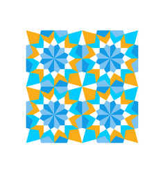 pattern geometric islamic background template art vector image
