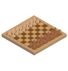 Picture chessboard with chess figures on it vector