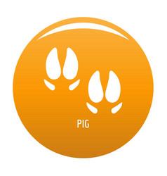 pig step icon orange vector image