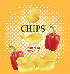 Potato chips with paprika vector