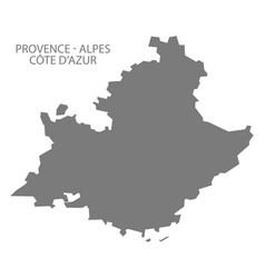 Provence - alpes - code d azur france map grey vector