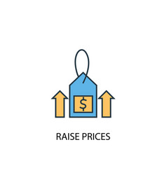raise prices concept 2 colored icon simple blue vector image