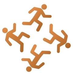 Running Men Gradient Icon vector