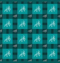 seamless pattern with music notes and square vector image