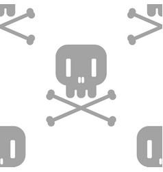 seamless wallpaper design gray skull with vector image