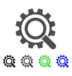 Search options gear flat icon vector