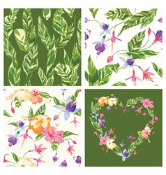 Set of Tropical Backgrounds vector