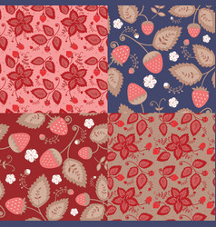 set patterns berries vector image