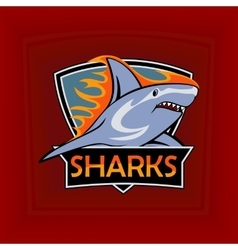 Sharks logo emblem for a sport team vector