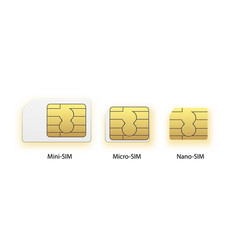 Sim card icon symbol concept new chip mobile vector