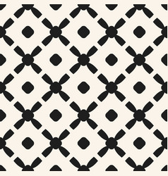 simple black and white geometric seamless pattern vector image