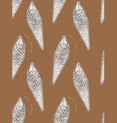 soft serve ice-cream cone seamless pattern vector image