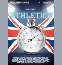 Sporting poster athletics vector