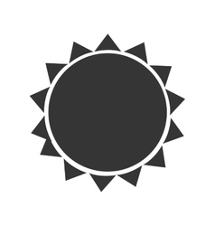 Sun isolated flat icon in black and white symbol vector image