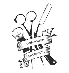 Symbol hairdresser and barbershop vector