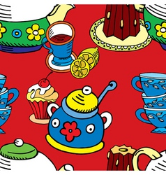 tea cake pattern vector image