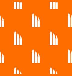 three pencils pattern seamless vector image