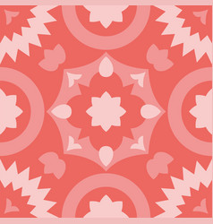 tile decorative floor tiles pink pattern vector image
