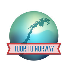 tour to norway vector image