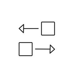 trasnsfer blocks icon vector image