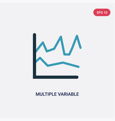 Two color multiple variable lines icon from user vector