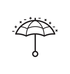 umbrella or parasol line icon vector image