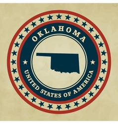 Vintage label Oklahoma vector