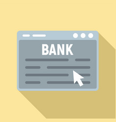 web banking icon flat style vector image