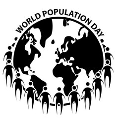 World population day icon sign symbol on white vector