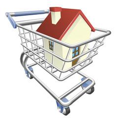 house shopping cart concept vector image vector image